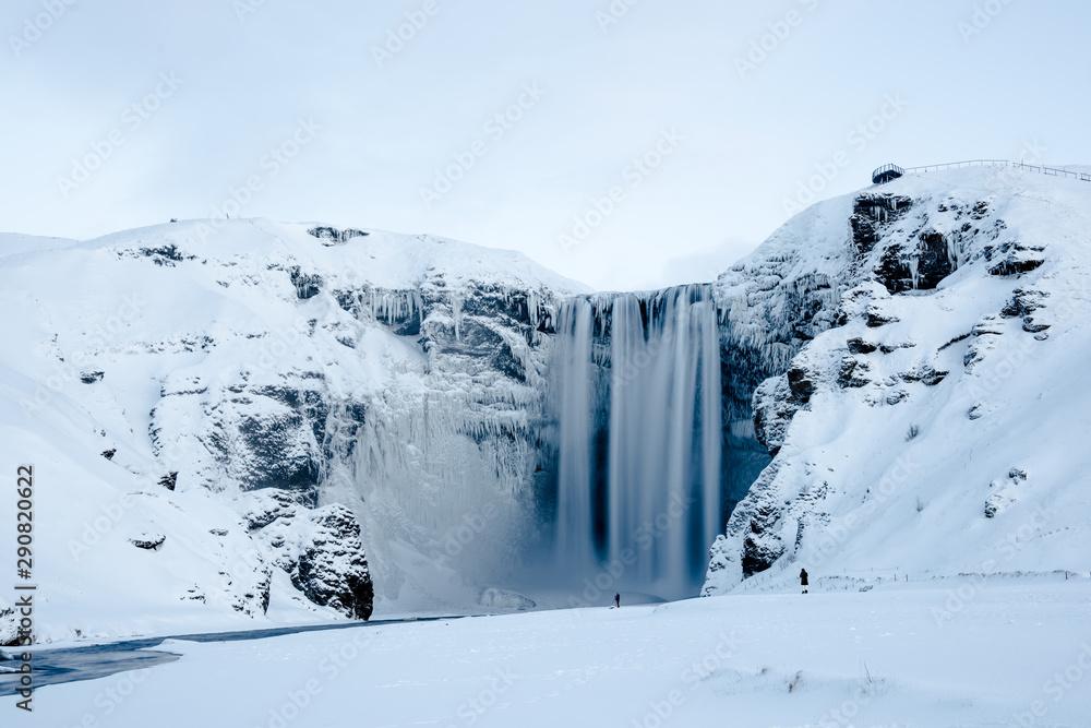 Fototapety, obrazy: Skogafoss waterfall in Winter, Iceland