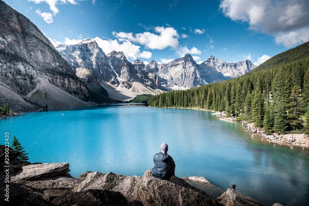Fototapety, obrazy: Beautiful Moraine lake in Banff national park, Alberta, Canada