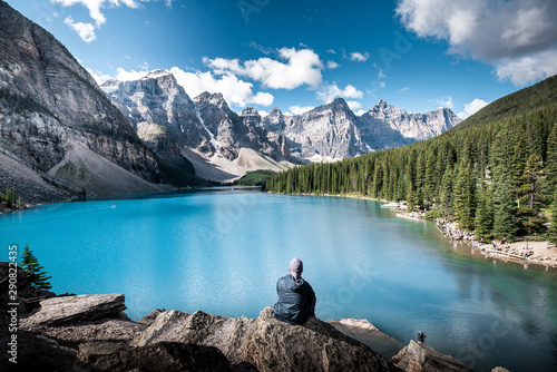 Printed kitchen splashbacks Mountains Beautiful Moraine lake in Banff national park, Alberta, Canada