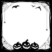Halloween Black Frame With Bat...