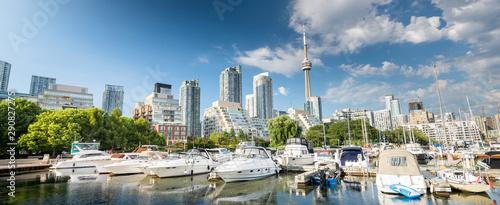 Toronto city skyline, Ontario, Canada Tableau sur Toile