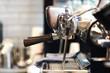 Leinwanddruck Bild - Professional coffee machine in cafe.