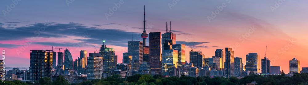 Fotografie, Obraz Toronto city view from Riverdale Avenue. Ontario, Canada
