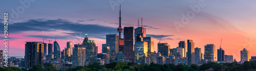 Photo Toronto city view from Riverdale Avenue. Ontario, Canada