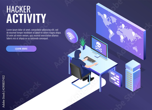 Photographie Hacker attack concept