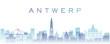 Antwerp Transparent Layers Gradient Landmarks Skyline