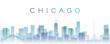 Chicago Transparent Layers Gradient Landmarks Skyline