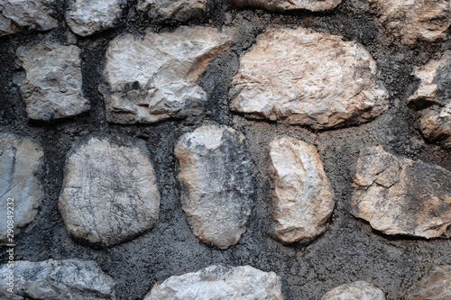 Old stone wall as background, closeup view