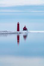 Winter Lighthouse Reflection I...