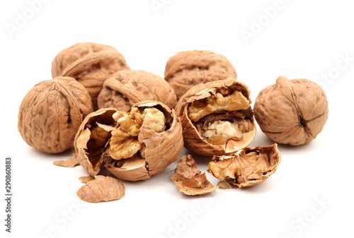 Cuadros en Lienzo  walnuts on a white background