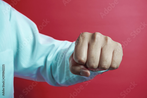 Photo  Businessman's punch