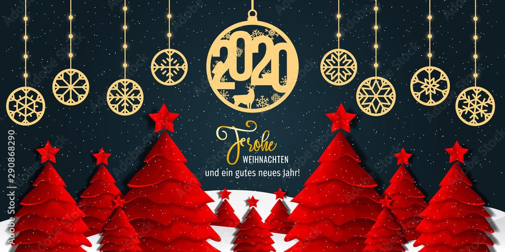 Fototapeta Weihnachten - Frohe Weihnachten. Weihnachtskarte
