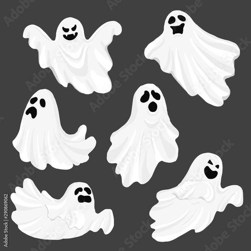 Whisper Ghost cartoon isolated on dark background Canvas-taulu