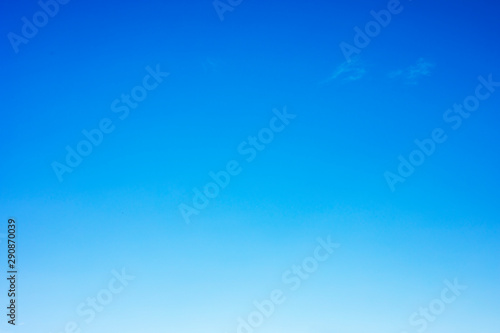 Clear blue sky background and empty space for your design, no cloud