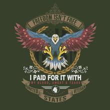 American Veteran Eagle Illustr...