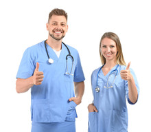 Male And Female Nurses Showing...