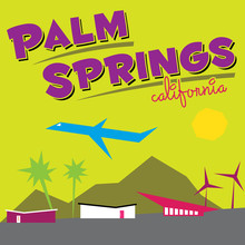Palm Springs, California Illustration | Retro Travel Artwork | Mid-Century Modern Art