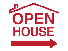 Open House Sign Layout | Generic Open House Template | Real Estate Signage