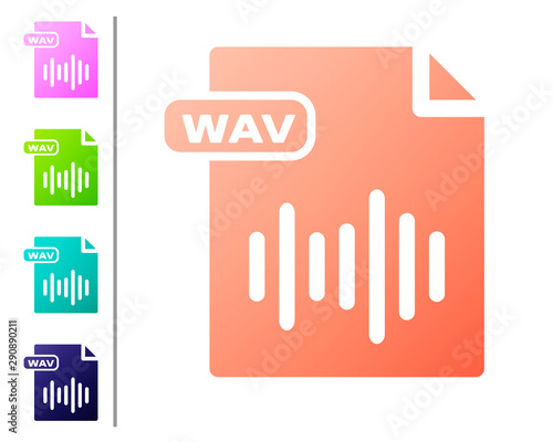 Canvas Print Coral WAV file document