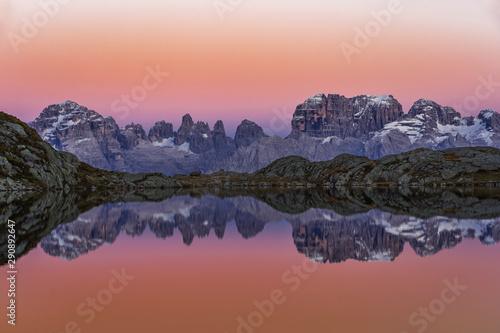 Lago Nero di Cornisello Brenta Fotobehang