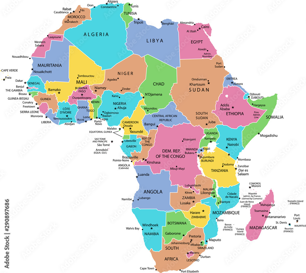 Fototapeta map of Africa