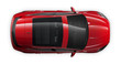 Red SUV car - top view