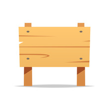 Wooden Sign Vector Isolated Illustration