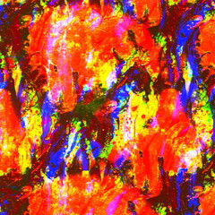 Grunge abstract colorful texture with mud. Watercolor multicolored acrylic dirty futuristic pattern with wave effect. Fractal Background with mixed colors. Fluid art rust color. Blurred chaotic brush
