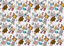 Seamless Pattern With Garbage