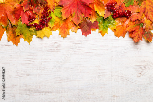 Fotografie, Obraz  Image with autumn leaves.
