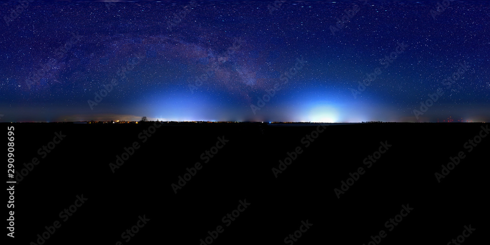 Fototapety, obrazy: night sky panorama 360° with milky way
