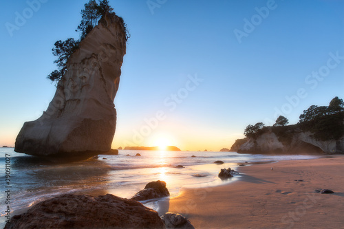 Canvas Prints Cathedral Cove First Light Over Cathedral Cove New Zealand