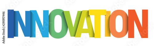 Obraz INNOVATION colorful gradient typography banner - fototapety do salonu