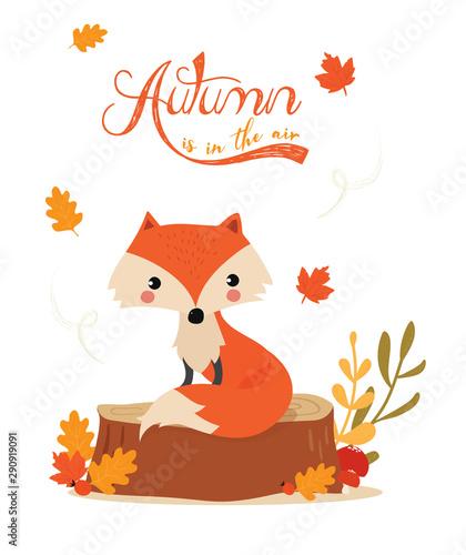 autunno è nell' aria Canvas Print