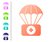 Coral Parachute With First Aid...
