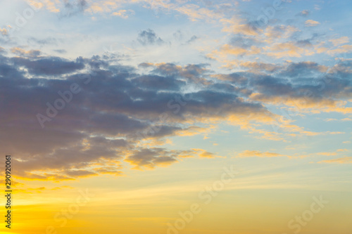 Fototapety, obrazy: Colorful sunset light sky with cloud