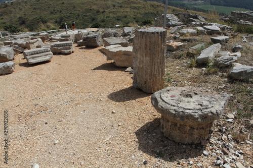 Fotografie, Tablou  Calatafimi Segesta, Italy - 1 July 2016: the ancient city of Segesta