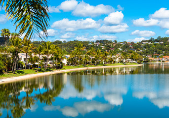 View of the coastline, Gold Coast, Queensland, Australia.