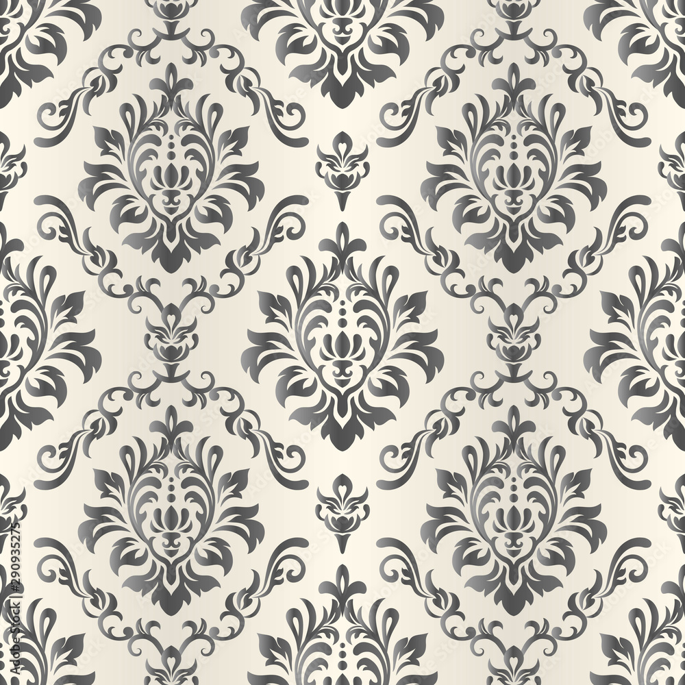 Baroque Seamless Pattern. Damask wallpaper.