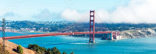 View of The Golden Gate Bridge in San Francisco, USA. Canvas Print