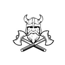 Viking Warrior Barbarian Vecto...