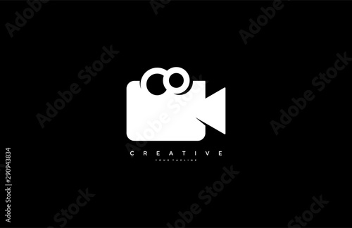 Fototapeta  Video camera logo design simple minimalist