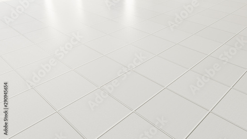 Pavimento ceramica bianca a piastrelle Canvas Print