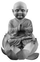 Bouddha Assis Dans Fleur De Lotus