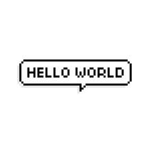 Pixel Art Speech Bubble Saying...