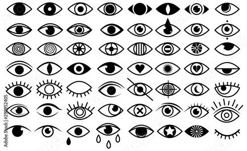 Fotomural Set of stylized eyes for logos