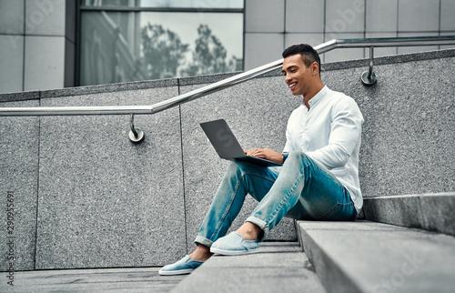 Fototapeta  African-American man in the city