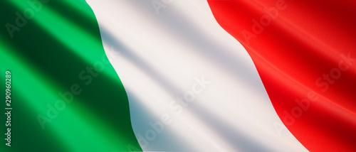 Fototapeta Waving flag of Italy - Flag of Italy - 3D illustration obraz