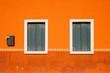 Leinwanddruck Bild - Orange Windows