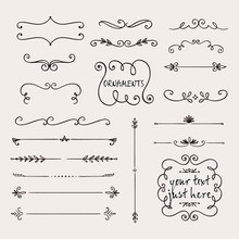 Calligraphic Borders, Patterns...